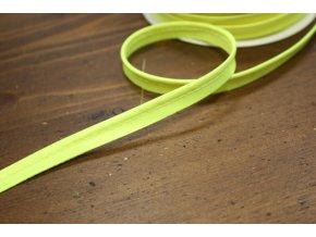 Neonově žlutá saténová paspulka, 3mm