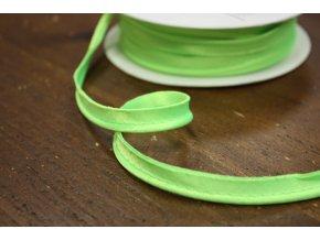 Neonově zelená saténová paspulka, 3mm