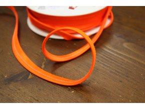 Neonově oranžová saténová paspulka, 3mm