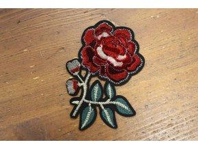 Nažehlovací aplikace růže