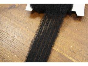 Černá řasená guma, 50 mm