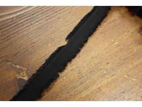 Černý roztřepený prýmek, 18mm