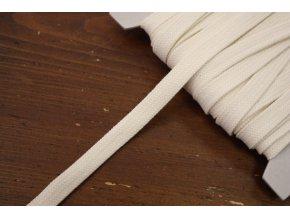 Smetanový plochý provaz, 12mm