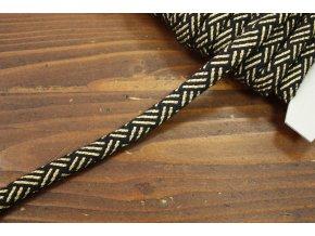 Černo-zlatý provaz, 11mm