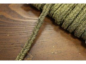 Starozlatý provaz-copánek, 10mm
