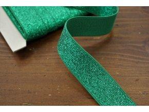 Zelená třpytivá guma, 30mm