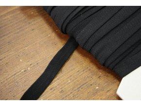 Černá měkká guma se vzorem rybí kost, 11mm