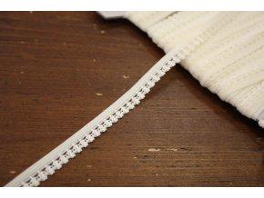 Smetanová měkká guma se zdobným okrajem, 10mm