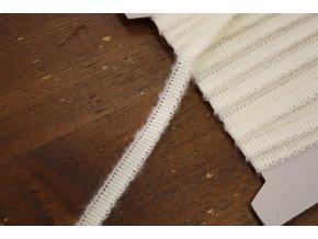 Široká rypsová stuha s mohérem, 1cm