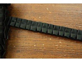 Plisovaný černý prýmek, 20mm