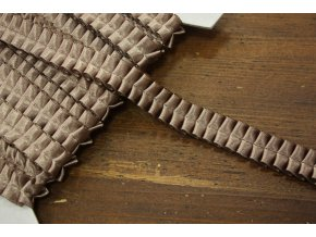 Plisovaný kakaový prýmek, 15mm