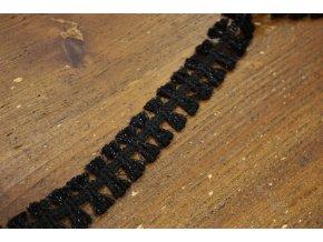 Černý roztřepený prýmek ve stylu Chanel, 26mm
