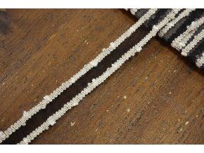 Organzová stuha s  háčkovaným okrajem, 18mm
