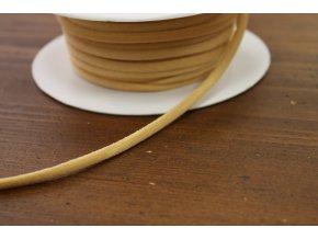 Kulatá gumička pro špagetová ramínka v tělové barvě, 4mm