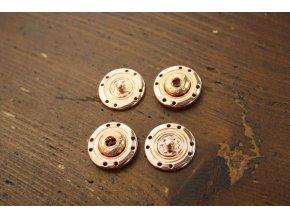 Kovové patenty (růžové zlato), 20mm