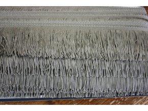 Šedé viskózové třásně, 7 cm