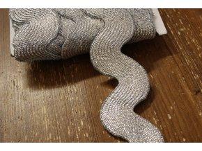 Široká stříbrná vlnovka, 55mm