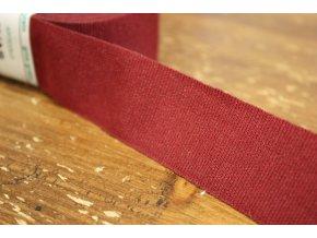 Rypsová stuha v bordó barvě, 30mm