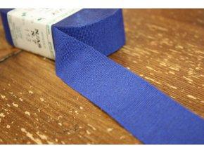 Rypsové stuhy v odstínech modré, 30mm