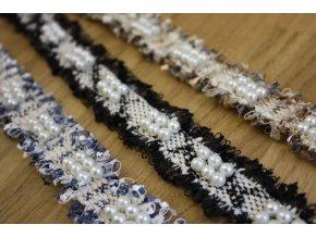 Bavlněná bordura a la Chanel s perličkami