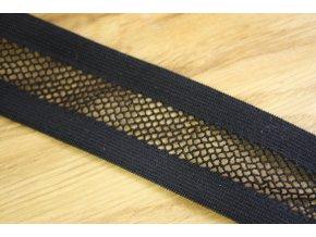 Černá děrovaná guma, 35mm