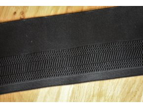 Černá široká guma, 10 cm