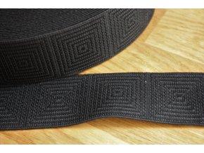 Černá široká guma, 50 mm