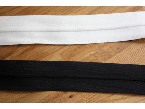 Plastická guma v bílé a černé barvách, 40 mm