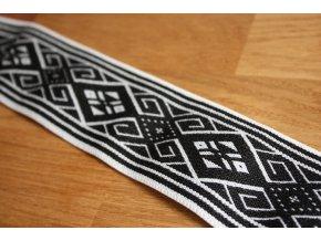 Vzorovaná černo-bílá guma, 50mm