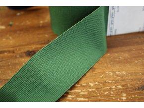 Zelená rypsová stuha, 40mm