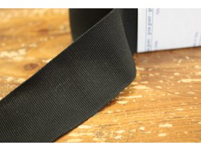 Černá rypsová stuha, 40mm
