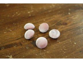 Růžový sametový knoflík, 12 mm