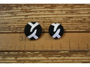 Černobílý knoflík 17mm a 20 mm
