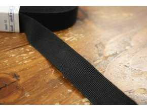 Černá rypsová stuha, 20mm