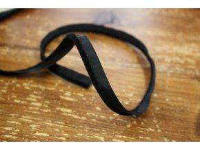 černá sametová paspulka, 4mm