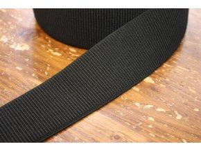 Černá široká žebrovaná guma, 60 mm