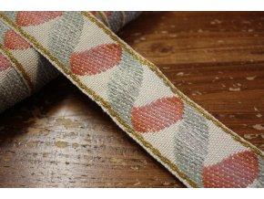Bavlněná žakárová stuha, 45 mm