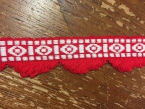 Rostřepený bavlněný prýmek, 45 mm