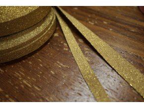 Zlatá rypsová stuha, 9mm, 15mm