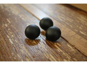 """Černý kovový knoflík """"bochánek"""" 7mm"""