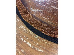 Černý viskózový náplet s ruličkou