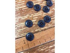 Tmavě modrý knoflík 13 mm