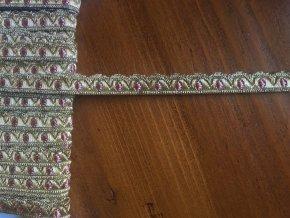 Zlatá žakárová stuha, 9mm
