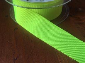 Neonově žlutá rypsová stuha, 25 mm