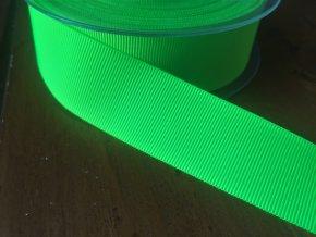 Neonově zelená rypsová stuha, 25 mm
