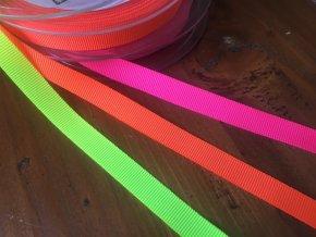 Neonové rypsové stuhy, 10 mm