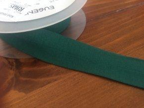 Zelený úpletový šikmý proužek