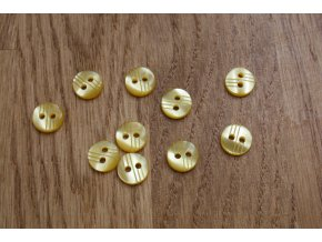 Dvoudírkový žlutý knoflík, 10mm