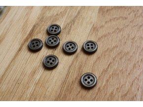 Košilový knoflík tmavě hnědý, 11mm