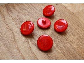 Červený knoflík s kotvou, 20mm